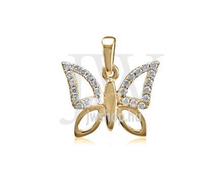 Sárga arany, pillangó medál - 230