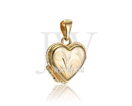 Sárga arany, szív, nyitható medál - 232