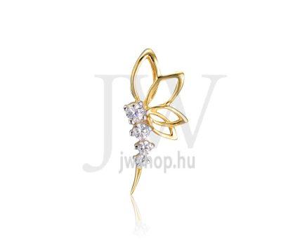 Sárga arany, pillangó, köves medál - 241