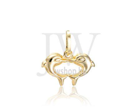 Sárga arany, delfin pár medál - 244