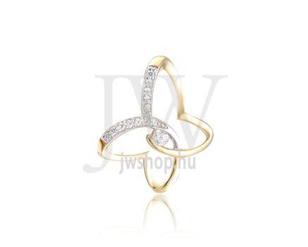 Sárga arany, pillangó, köves medál - 250