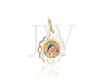 Sárga arany, kerek, Mária medál - 262