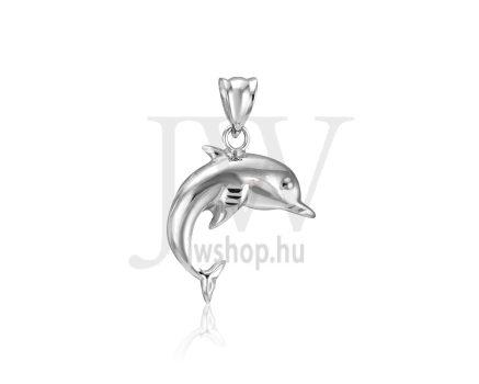 Fehér arany, delfin medál - 268