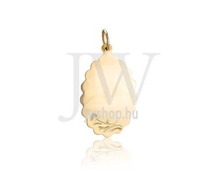 Sárga arany, vésett, ovális lapmedál - 287