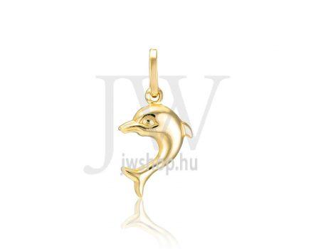 Sárga arany, delfin medál - 307