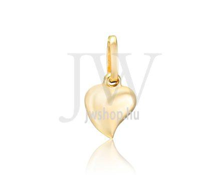 Sárga arany, szív medál - 308
