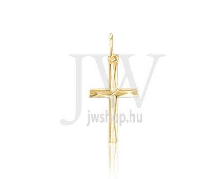 Sárga arany, kereszt medál - 314