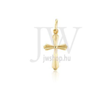 Sárga arany, kereszt medál - 335