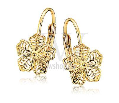 Sárga arany patentzáras fülbevaló  FGYP17