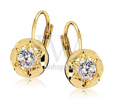 Sárga arany köves patentzáras fülbevaló  FGYP35