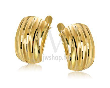 Sárga arany vésett francia kapcsos fülbevaló GYV1B