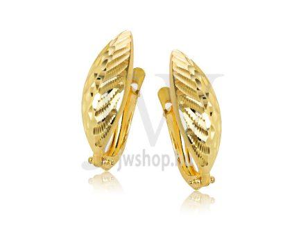 Sárga arany vésett francia kapcsos fülbevaló GYV6B