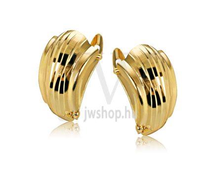 Sárga arany vésett francia kapcsos fülbevaló GYV7A