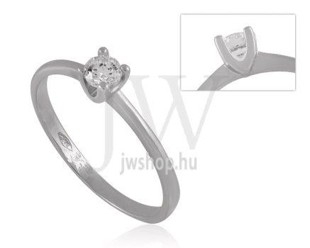Fehér arany, köves eljegyzési gyűrű - SZ10/F