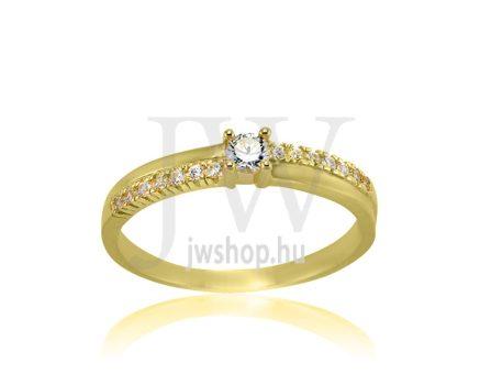 Sárga arany, köves eljegyzési gyűrű - SZ13/S