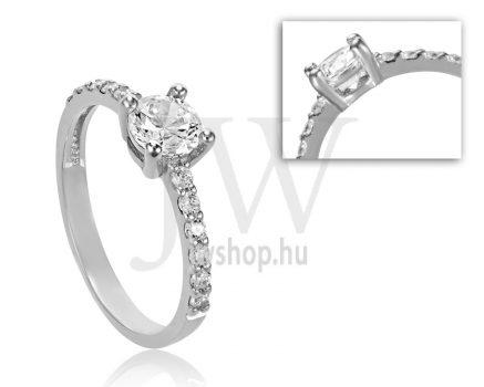 Fehér arany, köves eljegyzési gyűrű - SZ14/F