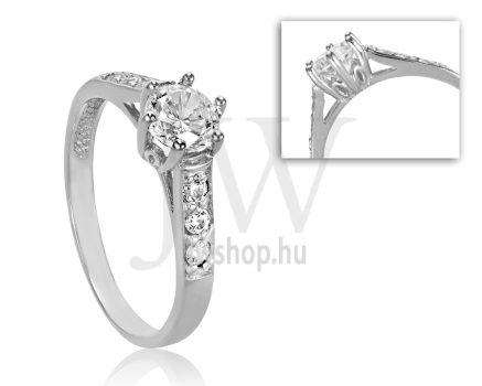 Fehér arany, köves eljegyzési gyűrű - SZ15/F