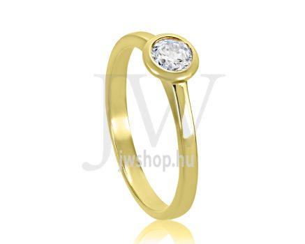 Sárga arany, köves eljegyzési gyűrű - SZ16/S