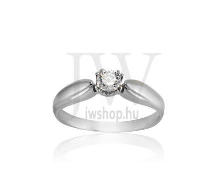 Fehér arany, köves eljegyzési gyűrű - SZ19/F