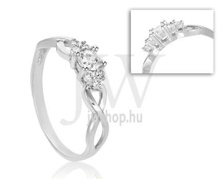 Fehér arany, köves eljegyzési gyűrű - SZ1/F