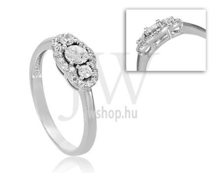 Fehér arany, köves eljegyzési gyűrű - SZ22/F