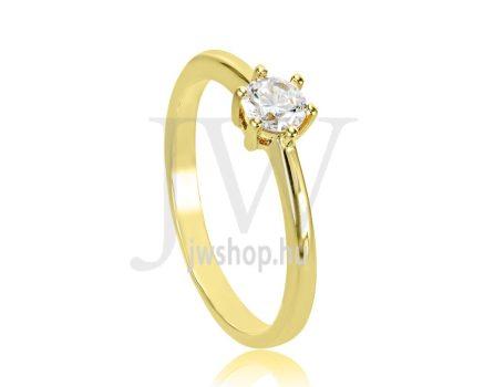 Sárga arany, köves eljegyzési gyűrű - SZ25/S