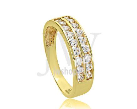 Sárga arany, köves eljegyzési gyűrű - SZ28/S