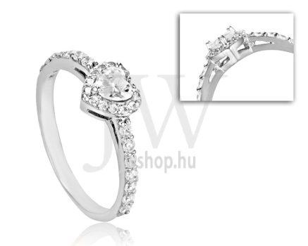 Fehér arany, köves eljegyzési gyűrű - SZ31/F