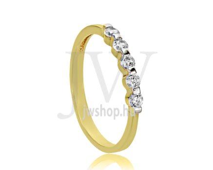 Sárga arany, köves eljegyzési gyűrű - SZ32/S