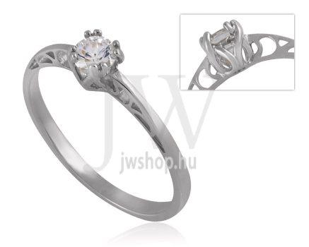 Fehér arany, köves eljegyzési gyűrű - SZ33/F
