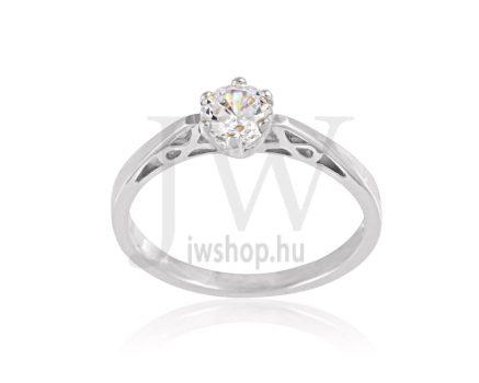 Fehér arany, köves eljegyzési gyűrű - SZ34/F