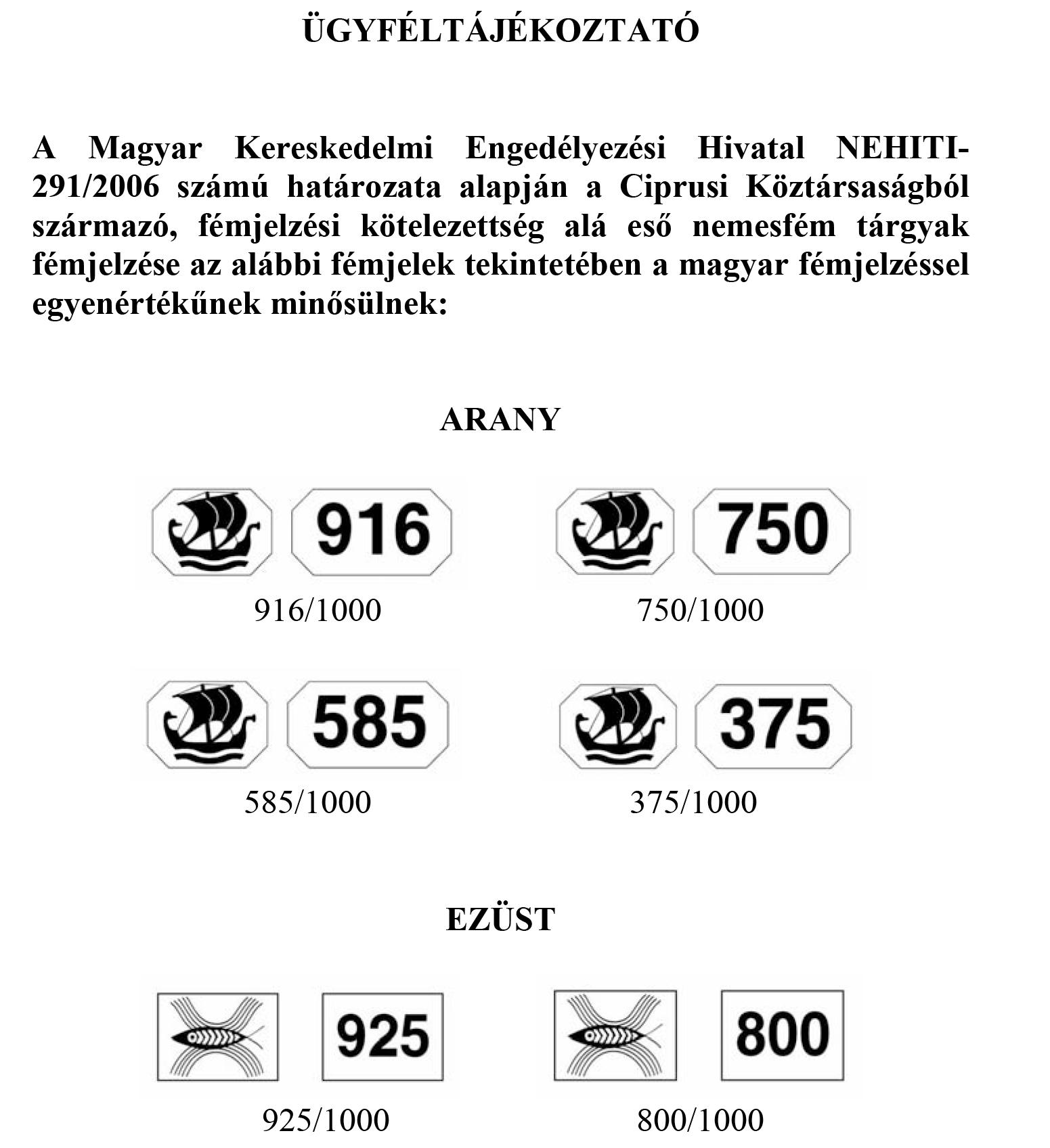 Ciprusi Fémjelek